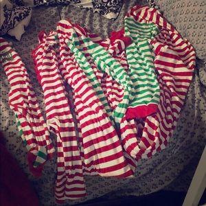 Matching family Christmas onesie pajamas